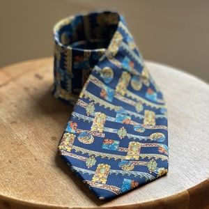 Christian Dior 100% Silk Print Tie